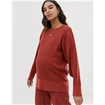 Asos ASOS DESIGN Maternity premium lounge knitted dropped sleeve sweat