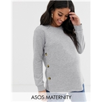 Asos ASOS DESIGN Maternity nursing sweat with button sides