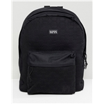 Asos boohooMAN backpack with man embossing in black