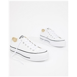 Asos Converse Chuck Taylor All Star leather platform low sneakers in white