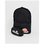 Asos ellesse Rolby backpack with pencil case in black