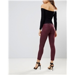 Asos Freddy WR.UP Mid Rise Shaping Effect Coated Crop Biker Jean