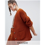 Asos Monki chunky cardigan in brown tortoise