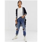 Asos Only ribbed cardigan with contrast tipping