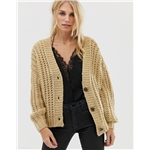 Asos Pieces chunky hand knit cardigan