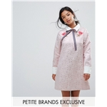 Asos Sister Jane Petite Mini Dress With Embroidery