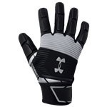 Under Armour Combat V Full Finger Lineman Gloves - Mens / Black/White
