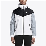 Nike Windrunner Jacket - Mens / White/Black/Wolf Grey/White